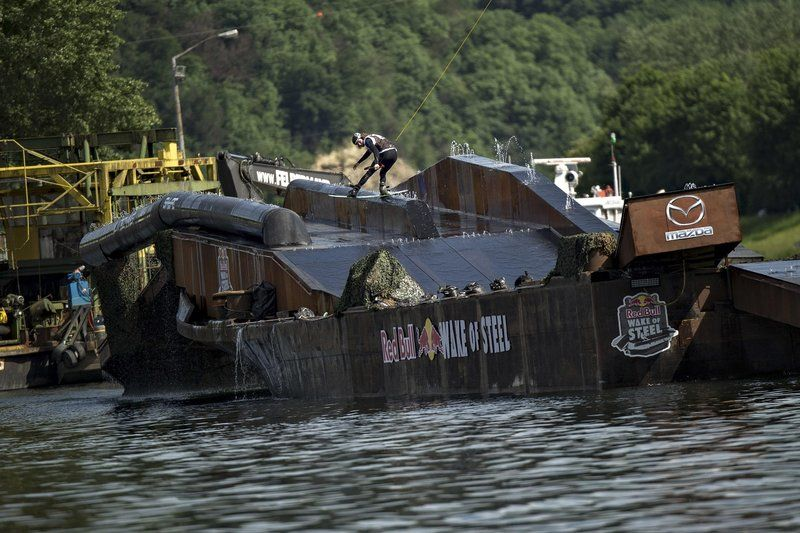 Ben Leclair of Canada performs at the Red Bull Wake of Steel in Linz, Austria on May 21, 2016
