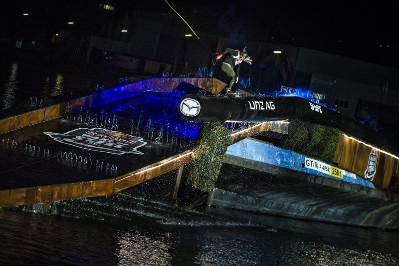James Windsor of Australia performs at the Red Bull Wake of Steel in Linz, Austria on May 20, 2016