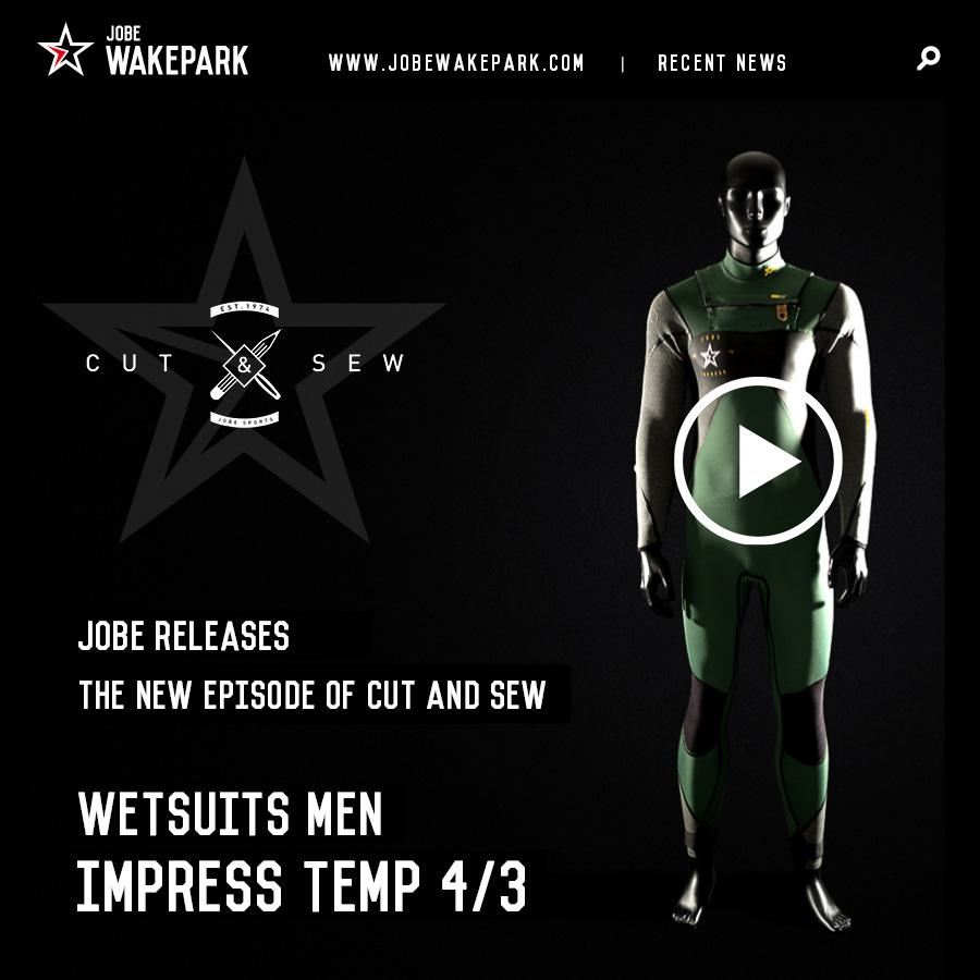 JOBE wetsuits Men Impress Temp 4/3