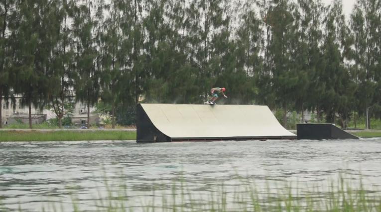 Luca Polidoro shred thai Wake Park Thailand