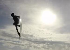 wakeboarding sunset
