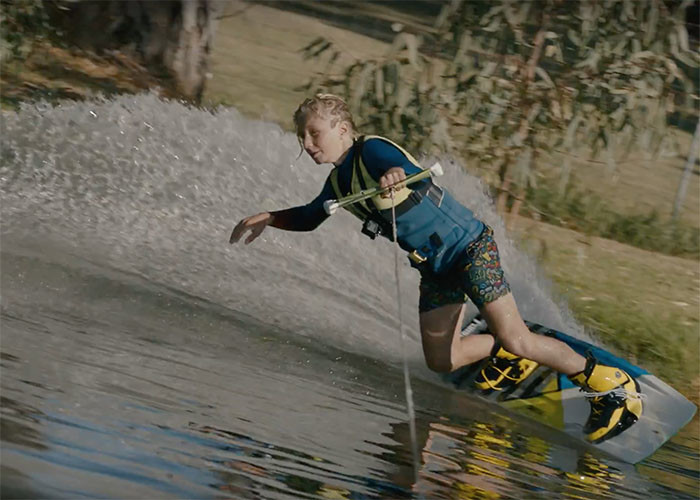 Luke Scaffidi Wakeboarding on his local spot