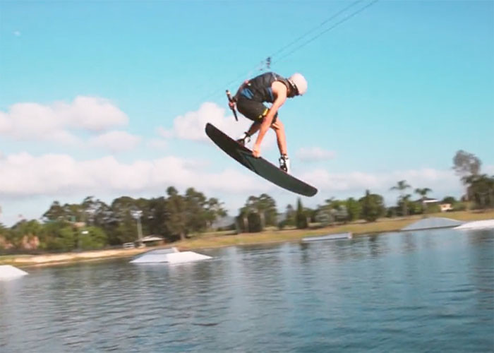Busty Dunn at Cables Wake Park, Penrith