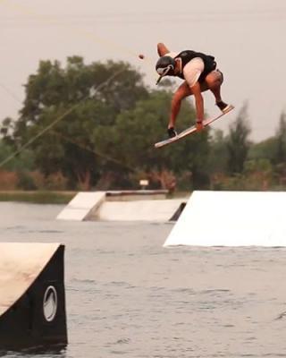 Maurizio Marassi wakeskating at Thai Wake Park