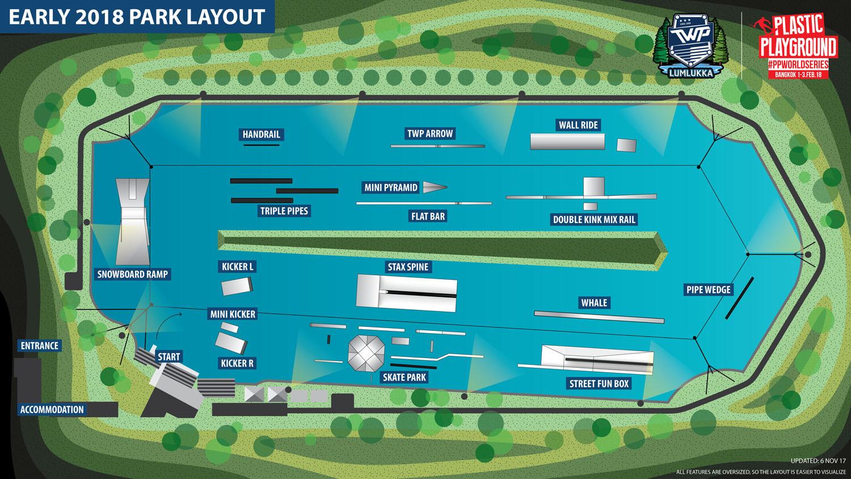 thai wake park plastic playground setup